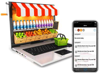 Sistema de Alarmas de Seguridad para negocios, tiendas, boutiques, restaurantes y locales comerciales en Ixtapa Zihuatanejo, Guerrero y Lázaro Cárdenas, Michoacán, Alarma Comercial